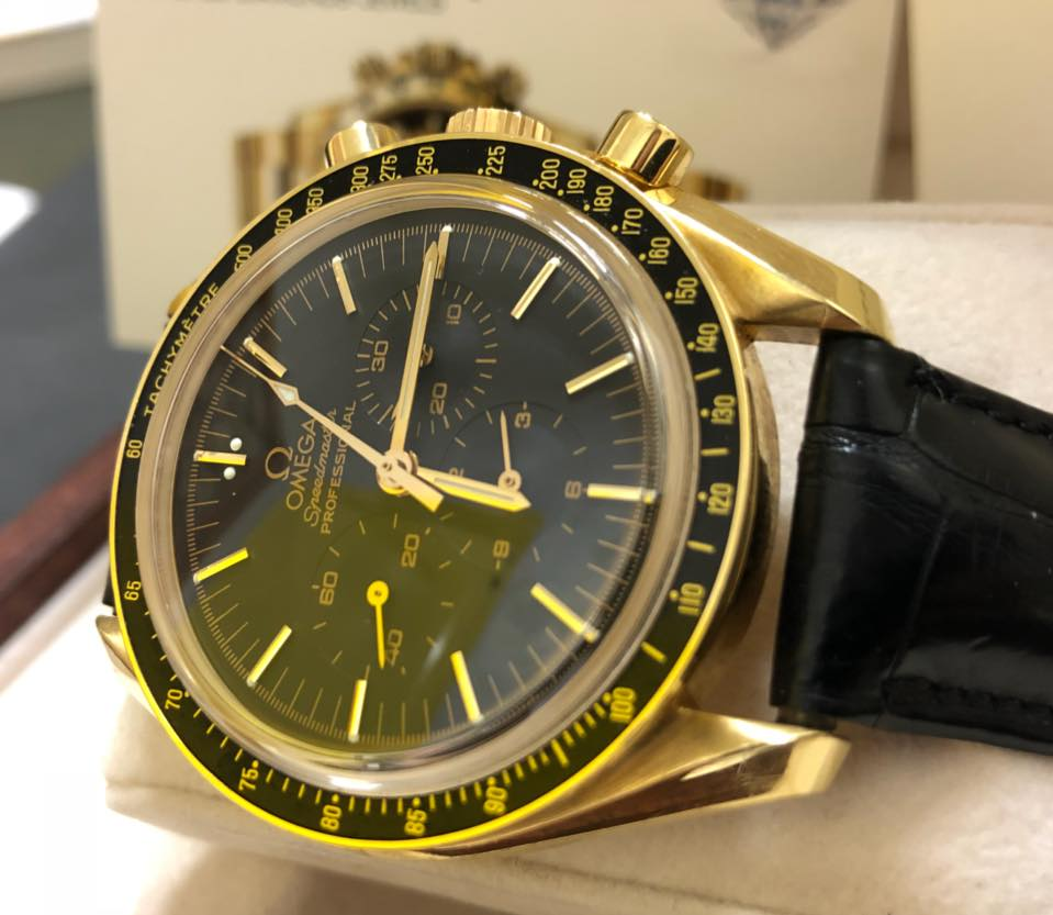 nuovo concetto 116bc de449 Omega Speedmaster Professional Moonwatch Gold 18kt Cal.1861 Anno 1999  Completo di Certificato Garanzia Tristargold Gioielli e Scatola Ufficiale  Omega